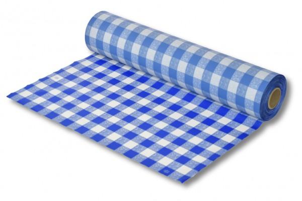 Biertischdecke blau/weiss 0,70 x 100 m