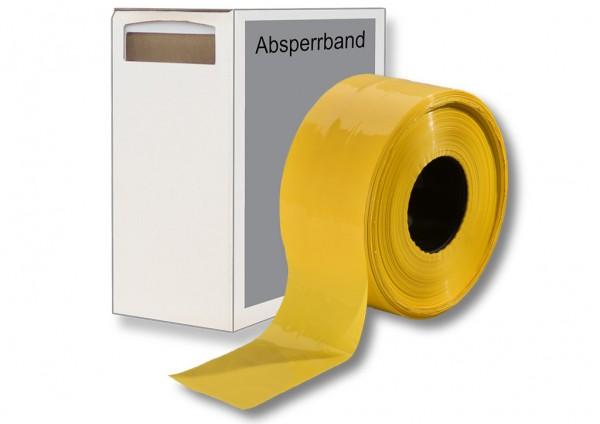 Absperrband gelb mit Karton