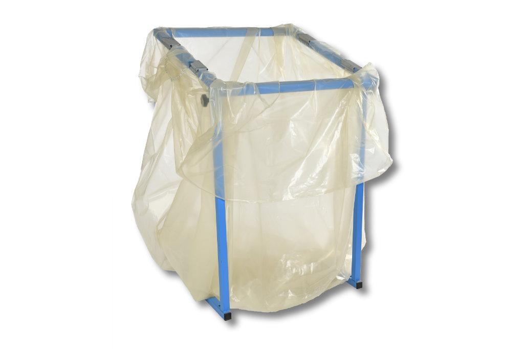 Seitenfalten-Müllsäcke (Styroporentsorgungssäcke), 1000 Liter, 900+600 x 1800 mm, Typ 80 = 60 my