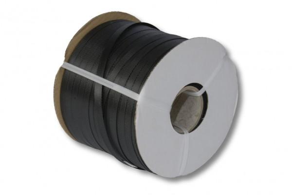 PP-Umreifungsband, schwarz, 12,7 x 0,50 mm 600 m 63 mm Kern