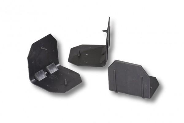 Kantenschutzecken, schwarz, 40x40 mm mit Dorn