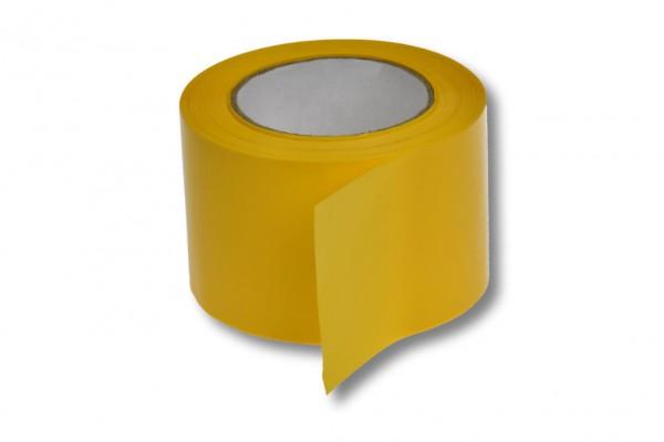 Absperrband, 75 mm / 100 m, gelb
