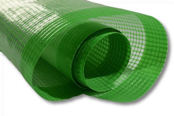 Gitterfolie 250g grün 2m breit mit Nagelrand