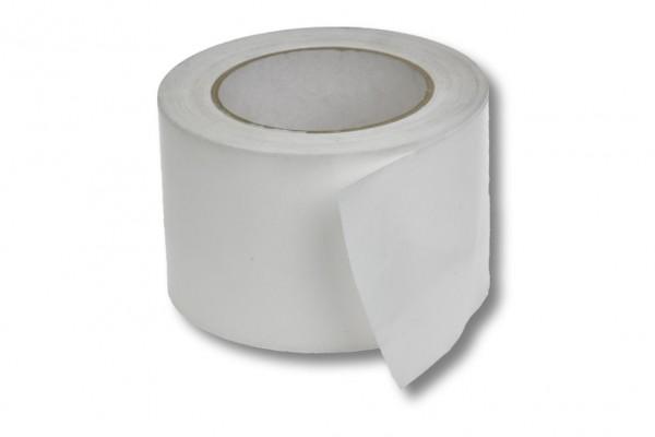 Absperrband, 75 mm / 100 m, weiß