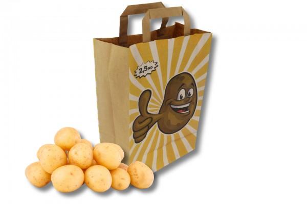 Papier Tragetasche Kartoffeln 2,5 kg