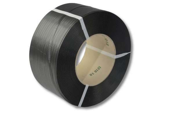 PP-Umreifungsband, schwarz, 12,0 x 0,63 mm 2250 m 200 mm Kern
