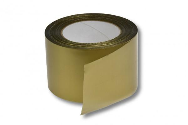 Absperrband, 75 mm / 100 m, gold