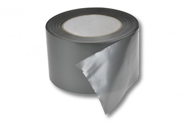 Absperrband, 75 mm / 100 m, silber