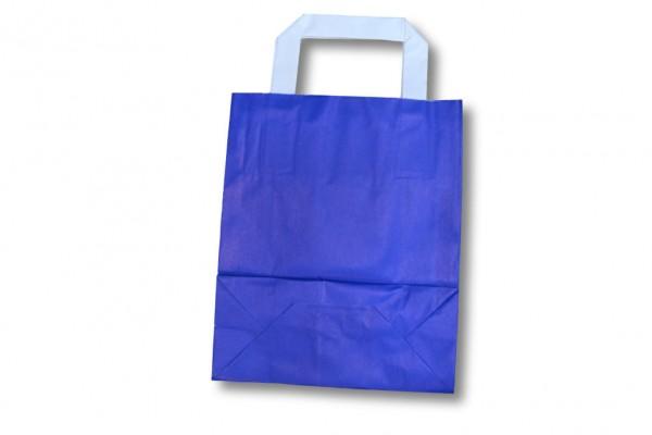 blaue Papiertragetasche