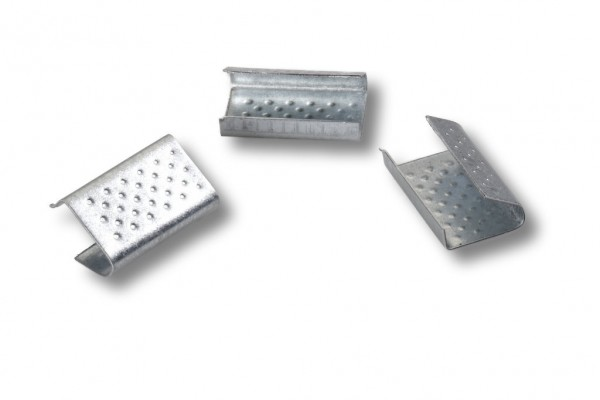 Verschlußhülsen für PP/PET-Band 13 mm geriffelt