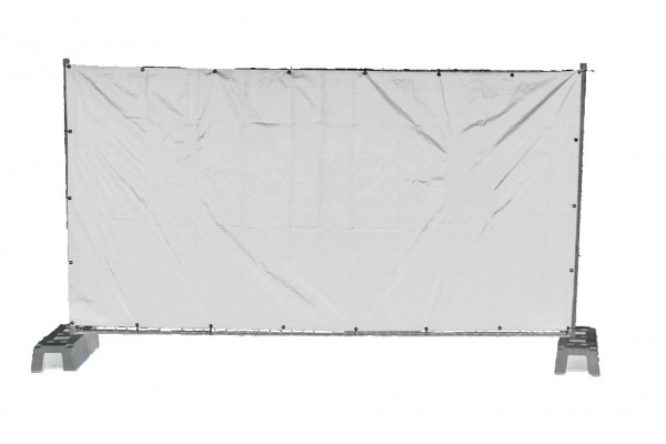 Bauzaunplane, weiß 1,76 x 3,41 m