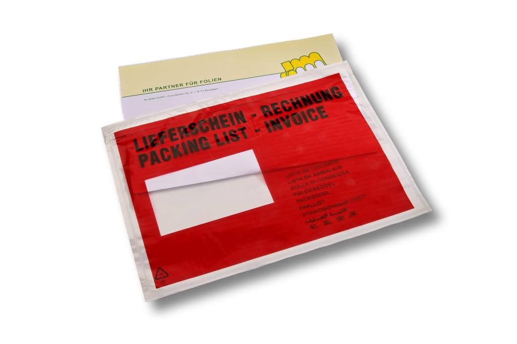 Versandtaschen C5 bedruckt: Lieferschein/Rechnung