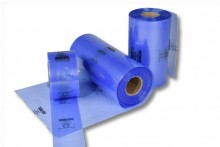 VCI-Schlauchfolie blau-transparent 150 x 0,10 mm / 100 m