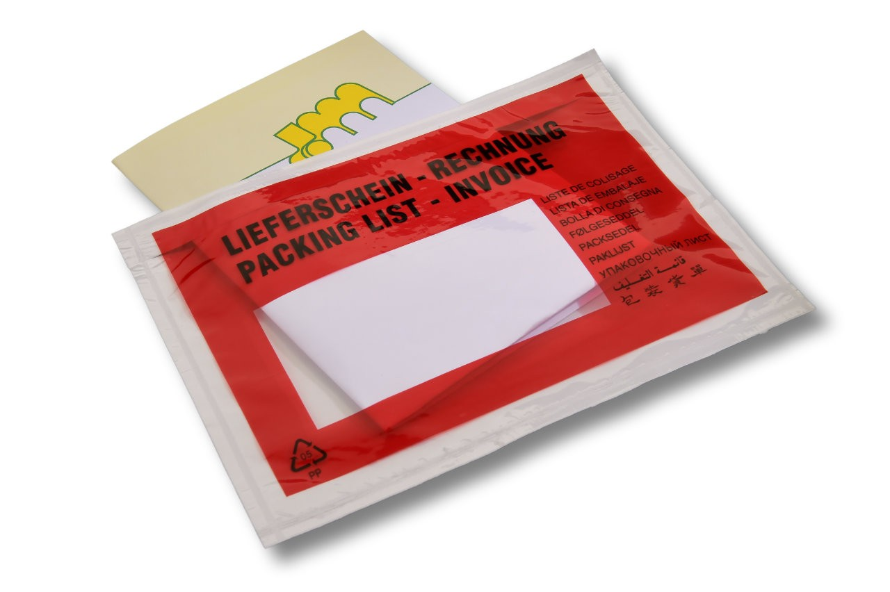 Versandtaschen C6 bedruckt: Lieferschein/Rechnung