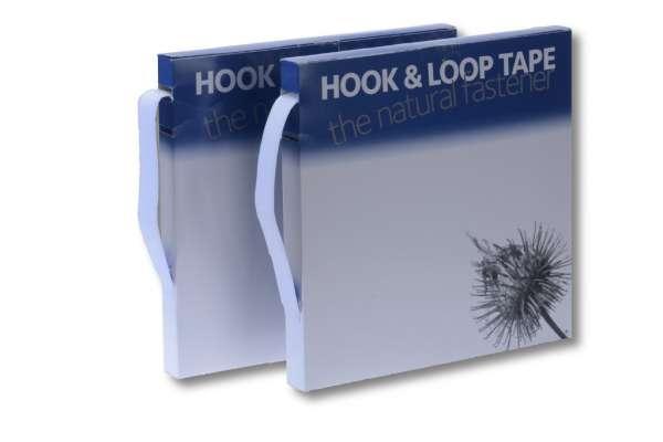 Klettband, weiß, 16 mm, (Hakenband)