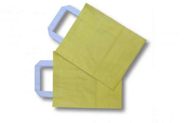 gelbe Papiertragetasche