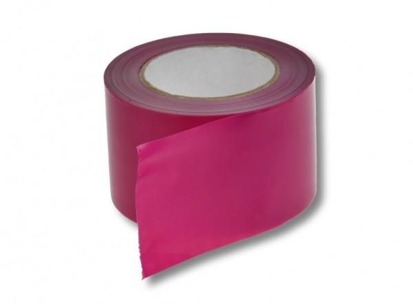 Absperrband, 75 mm / 100 m, pink