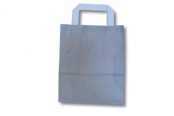 Papiertragetasche unbedruckt grau