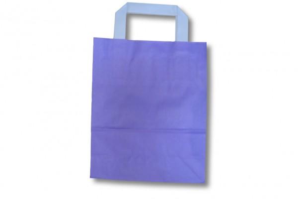 Papiertragetasche unbedruckt violett