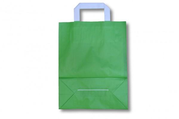 Papiertragetasche unbedruckt grün
