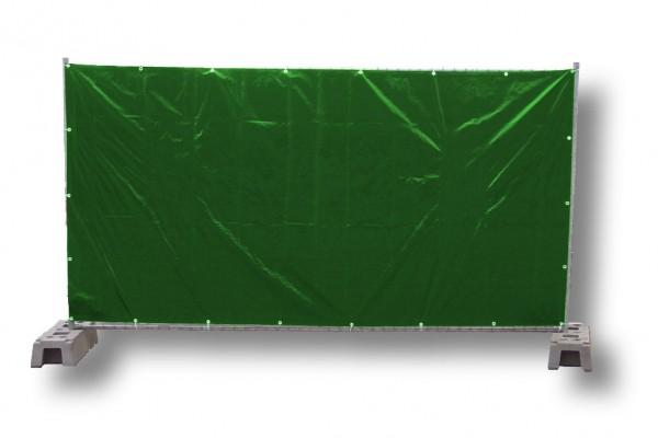 Bauzaunplane, grün 1,76 x 3,41 m