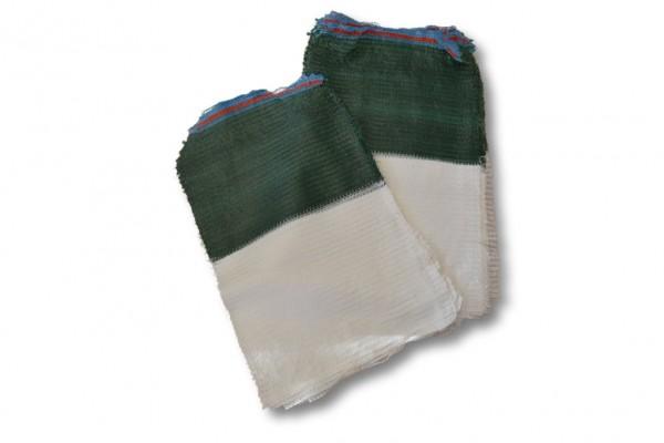 Raschelsäcke grün-weiß für Lauch
