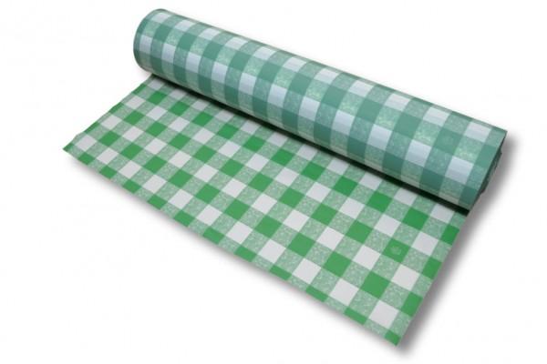 Tischdeckenfolie grün-weiß