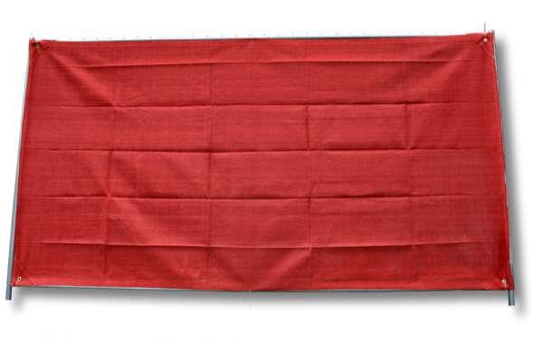 Bauzaunnetz rot, 1,80 x 50 m, Rollenware