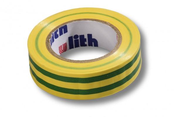 Isolierband, 15 mm / 10 m, gelb/grün
