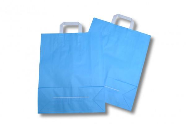 Papiertragetasche unbedruckt hellblau