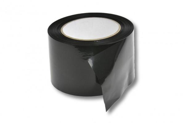 Absperrband, 75 mm / 100 m, schwarz