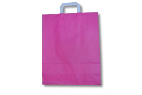 pinkfarbene Papiertragetasche
