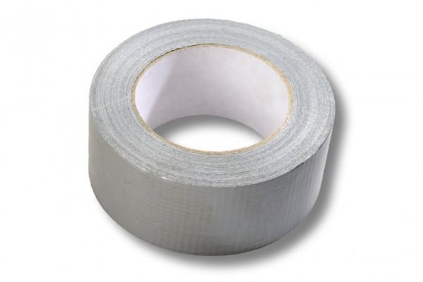 Gewebeklebeband, 50 mm / 50 m, Naturkautschuk, silber, STANDARD