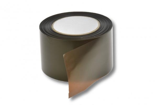 Absperrband, 75 mm / 100 m, braun