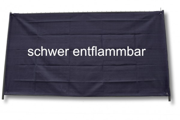 Bauzaunnetz schwarz, 1,80 x 50 m, Rollenware