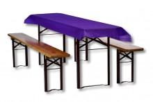 Biertischdecke violett