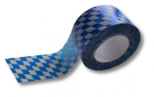 """Absperrband, 75 mm / 100 m, weiß/blau """"Bayern"""""""