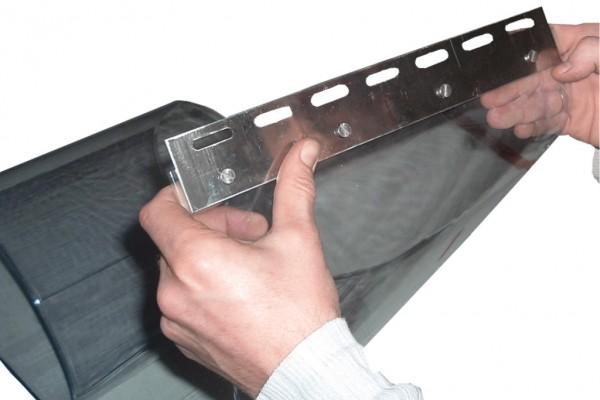 Befestigung für PVC-Streifen Klemmprofil