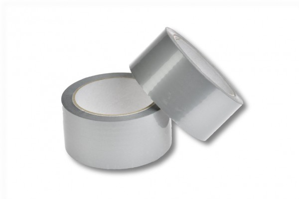 PP-Packband, 50 mm / 66 m, Acrylat, silber