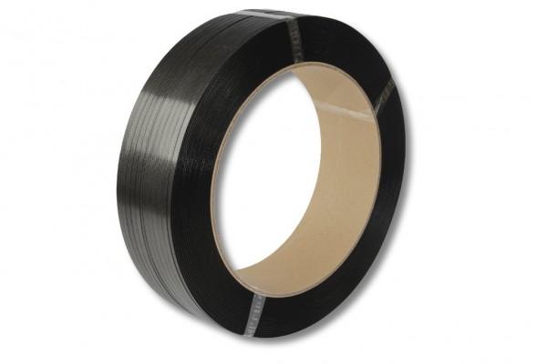 PP-Umreifungsband, schwarz, 12,7 x 0,75 mm 2000 m 406 mm Kern
