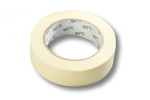 Kreppband 38 mm / 50 m 80°C