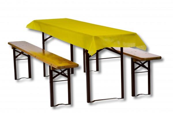 Biertischdecke gelb
