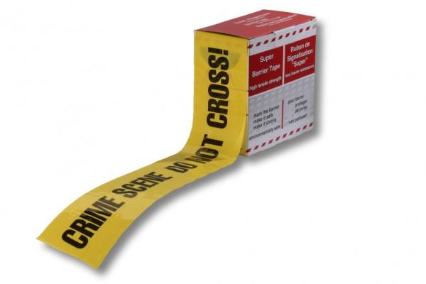 Absperrband, 80 mm / 100 m, gelb, CRIME SCENE DO NOT CROSS!