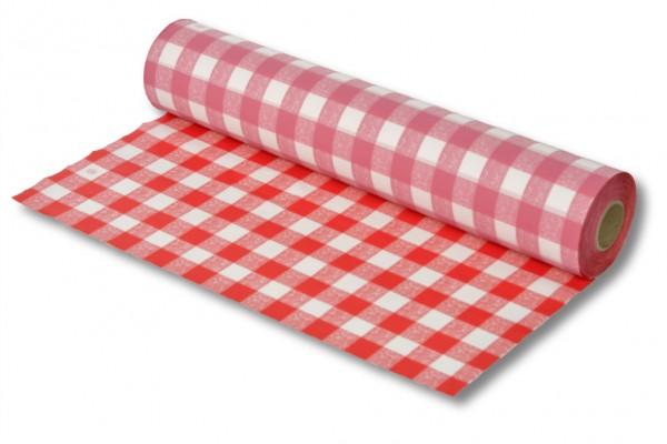 Tischdeckenfolie rot-weiss