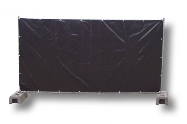 Bauzaunplane, schwarz 1,76 x 3,41 m