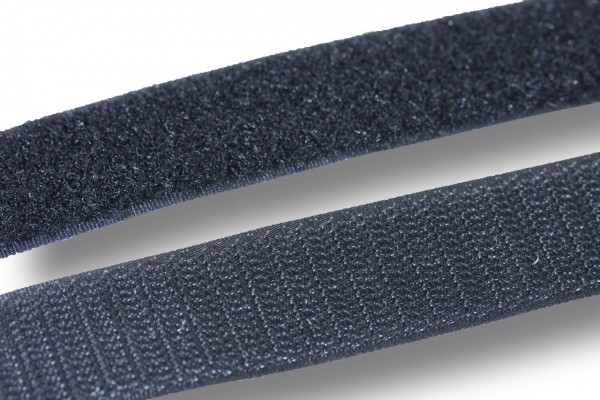 Klettband, schwarz, 20 mm, (Flauschband)